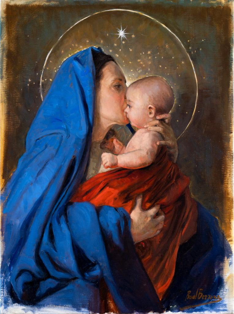 María y el Niño Jesús obra del gran artista malagueño Raúl Berzosa.